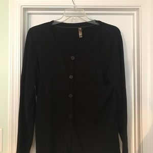 White Stag Black Cardigan sweater, gently used
